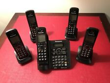 Panasonic cordless phone answering machine Kx-tg6641 With 5 Handsets.