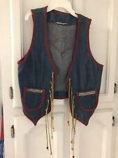 Kid's Vintage  Blue Jean Cowboy Vest, (costume, children's clothing) HALLOWEEN