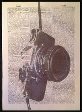 Cámara Vintage Estampado 1933 Diccionario Página De Libro Decoración Pared