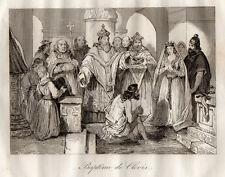 GRAVURE RELIGION / BAPTEME DE CLOVIS