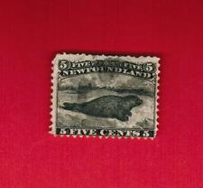 1868 #  26 *   USED FH  TIMBRE -  HARP SEAL NEWFOUNDLAND  STAMP  ( CANADA )