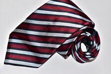 Men's Canali Striped Black Silk  Neck Tie made in Italy