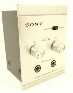 Vintage Sony TAH-10 Stereo Headphone Adapter For Sony Integrated Amplifiers