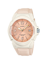 Casio LX610-4AV, Women's Cream Resin Band, Date, 100 Meter WR, 10 Year Battery