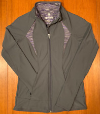 90 Degree Womens XS Jacket Gray Full-Zip Soft Athletic Fit Running NICE!