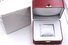 & outer box case Mint Condition Cariter red logo watch box inner
