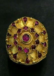 AYUTTHAYA PERIOD origin Thai Gold ring with old Rubellite at the
