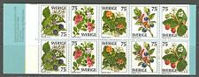 FRUITS, WILD BERRIES ON SWEDEN 1977  Scott 1219a, COMPLETE BOOKLET, MNH