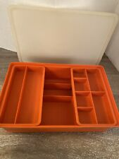 Vintage Tupperware Rectangular Craft Box stow n Go. 4 pc