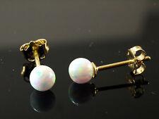 585 Gold Ohrstecker  mit echten Opal Kugeln  4 mm Grösse     1 Paar