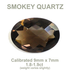Natural Smokey Quartz Firesale 1.8ct-1.9ct 9x7 Oval Faceted Buy 3 Get One Free!