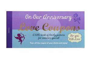 Love Coupons Vouchers Anniversary Birthday Stationery Gift Him Her