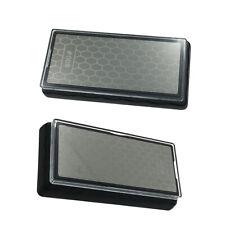Pack 2 Diamond Coated Plate Sharpener Whetstone Sharpening Stone Grits