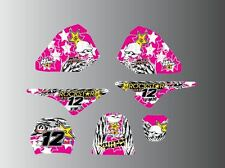 YAMAHA PW 50 80 FULL GRAPHICS KIT-STICKERS-DECALS-MX-MOTOCROSS-PINK