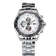 30m Waterproof Men's 3 Decoration Dials Calendar Stainless Steel Quartz Watches