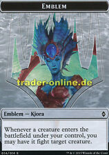 Token - Emblem Kiora (Spielstein - Emblem Kiora) Battle for Zendikar Magic