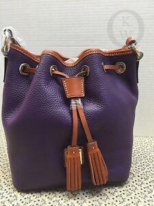 *NWT*Dooney & Bourke*Aubergine*Purple*Peeble Leather*Kendall Cross Body*16009J