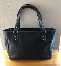 KATE SPADE NEW YORK Black Leather Satchel Shoulder Bag Purse Handbag