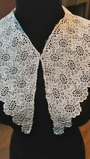 Antique Hand Embroidered Cotton Collar Broderie White Cotton Handmade Victorian