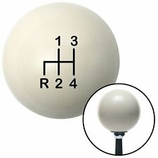 Black Shift Pattern 4n Ivory Shift Knob with M16x1.5 Insert hot rod truck bus v8