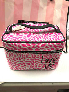 Victoria's Secret Pink Lips KISS Make Up Train Case Overnight Cosmetic Case NWT