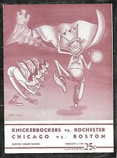 2-5-1950 CHICAGO VS BOSTON & ROCHESTER @ N.Y. KNICKS UN-SCORED PROGRAM