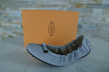 Tods Mort´s Gr-37 Ballerines chaussures Plates chaussures gris gris neuf