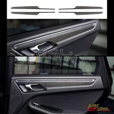 For Porsche Macan 15-20 Real Carbon Fiber Interior Door Side Panel Trim Molding