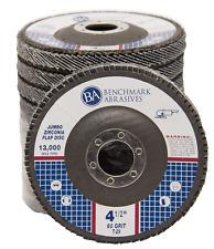 "10 Pack 4.5"" x 7/8"" Jumbo 60 Grit Zirconia Flap Disc Grinding Wheels T29"