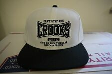 Can't Stop the Crooks Snapback Adjustable Cap White/Black Brand New with Tags