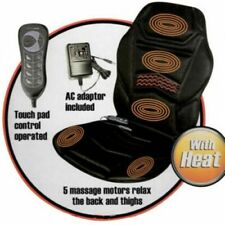 NEW MASSAGE CHAIR HEATED BACK SEAT MASSAGER CUSHION CAR HOME RELAX COMFORTABLE