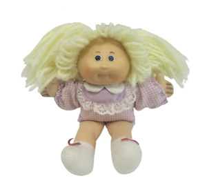 """5"""" VINTAGE CABBAGE PATCH BABY DOLL MINI W/ BLONDE HAIR STUFFED ANIMAL PLUSH TOY"""