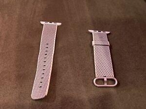 Apple 42mm White Check Woven Nylon Strap