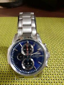Gents Seiko Solar Chronograph Wrist Watch