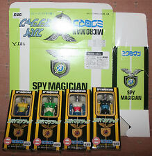Takara Microman Spy Magician-T-141-T-144-Set of 4 Figures + Store Display Box