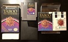 Taboo: The Sixth Sense (Nintendo, Nes 1989) Complete in Box Cib with Poster! 🔥
