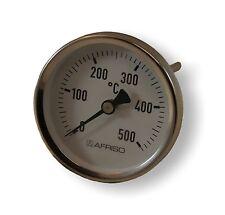 Rauchgasthermometer, 0 - 500 °C mit Konus, Thermometer Ø 80 mm, Schafft 150 mm