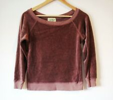 JUICY COUTURE PLUM BOAT NECK PULLOVER SWEATER TOP SHIRT LARGE