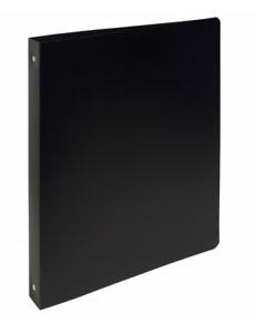 CLASSEUR PLASTIQUE SOUPLE - NOIR - DOS 20 mm - FORMAT A4 - 4 ANNEAUX - NEUF