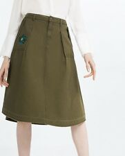 New With Tag Zara Olive Green Color Skirts. Medium Size $49 retail