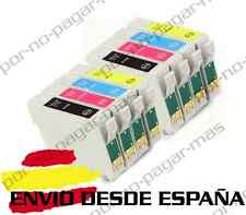 8 CARTUCHOS DE TINTA COMPATIBLE NON OEM EPSON STYLUS DX4800 DX4850 T0611/2/3/4