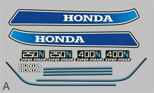 Honda 250/400 Super Dream Decal Set