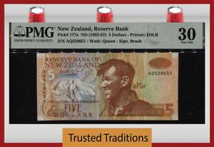 TT PK 177a 1992 NEW ZEALAND 5 DOLLARS MOUNT EVEREST PMG 30 VERY FINE