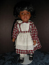 NEW CONCEPTS LTD AFRICAN AMERICAN PORCELAIN DOLL HANDS/FEET/HEAD WITH STAND EUC