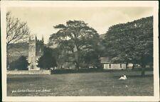 St Cuthbert's Church & School. Lorton, Cumbria. Lady Sitting On Grass  RH.737