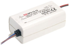 "LED Trafo - Netzteil 24V/DC - 12W - 0,5A MEANWELL ""APC-12-24"" MW Power Supply"
