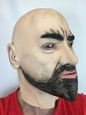 Realistic Man Mask Old Male Disguise Halloween Fancy Dress Goatee Bouncer Latex