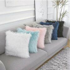 Sofa Decorative Tibetan Pillow Fluffy Faux Fur Throw Square Cushion Cover CasesB