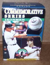 Ironmen Cal Ripken Jr.Lou Gehrig Collectors Set Baseball Replica Signatures 1996