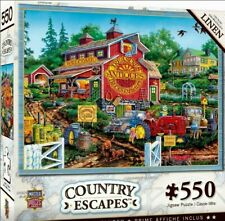 Country Escapes - Antique Barn - 550 Piece Linen Jigsaw Puzzle